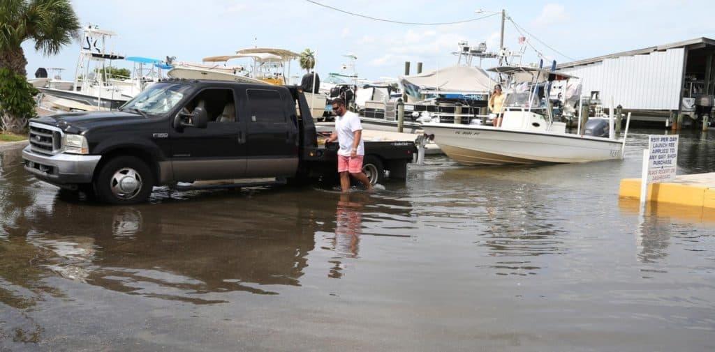Las impactantes imágenes del paso del huracán Michael por la costa de Florida