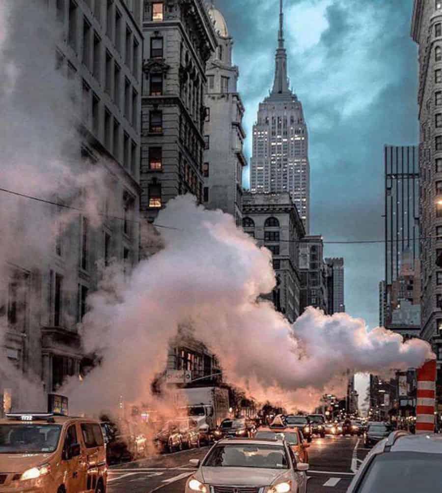 Vapor De Las Alcantarillas De Nueva York