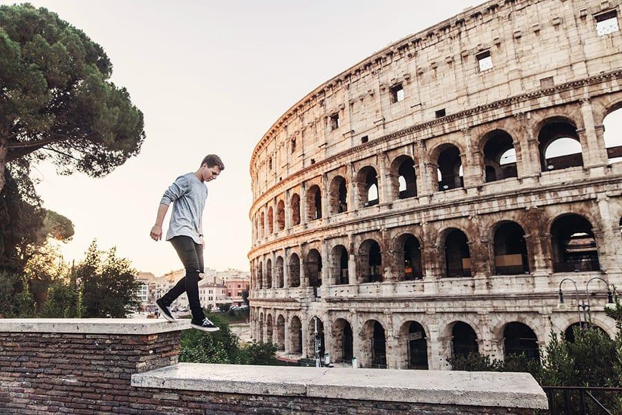 turista en roma