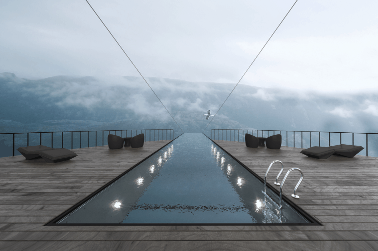 imagen cliff hotel pool 2