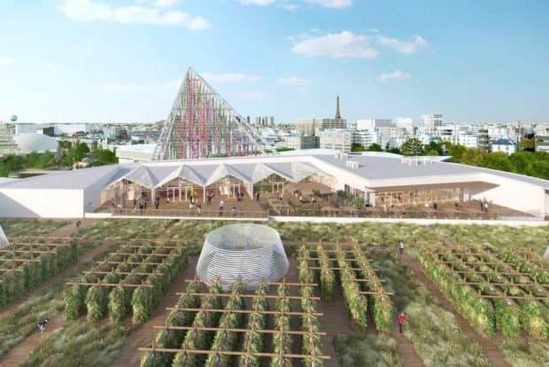 En Francia están construyendo nuevas edificaciones con paneles solares y techos verdes