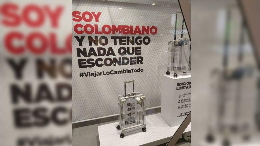 Colombia no tiene nada que esconder: la campaña de una maleta con mensaje anti bullying para los aeropuertos