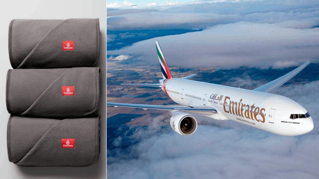 Mantas hechas con botellas de plástico recicladas y uso de sorbetes de papel: Emirates Airlines se suma a la sostenibilidad a bordo