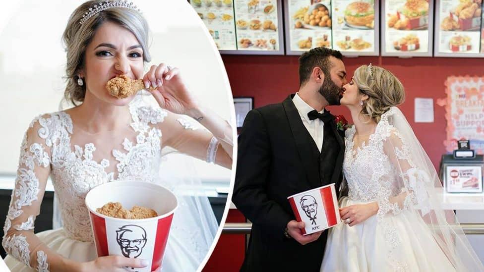 KFC buscó a una pareja que se comprometió en uno de sus locales y ahora tendrán la boda de sus sueños
