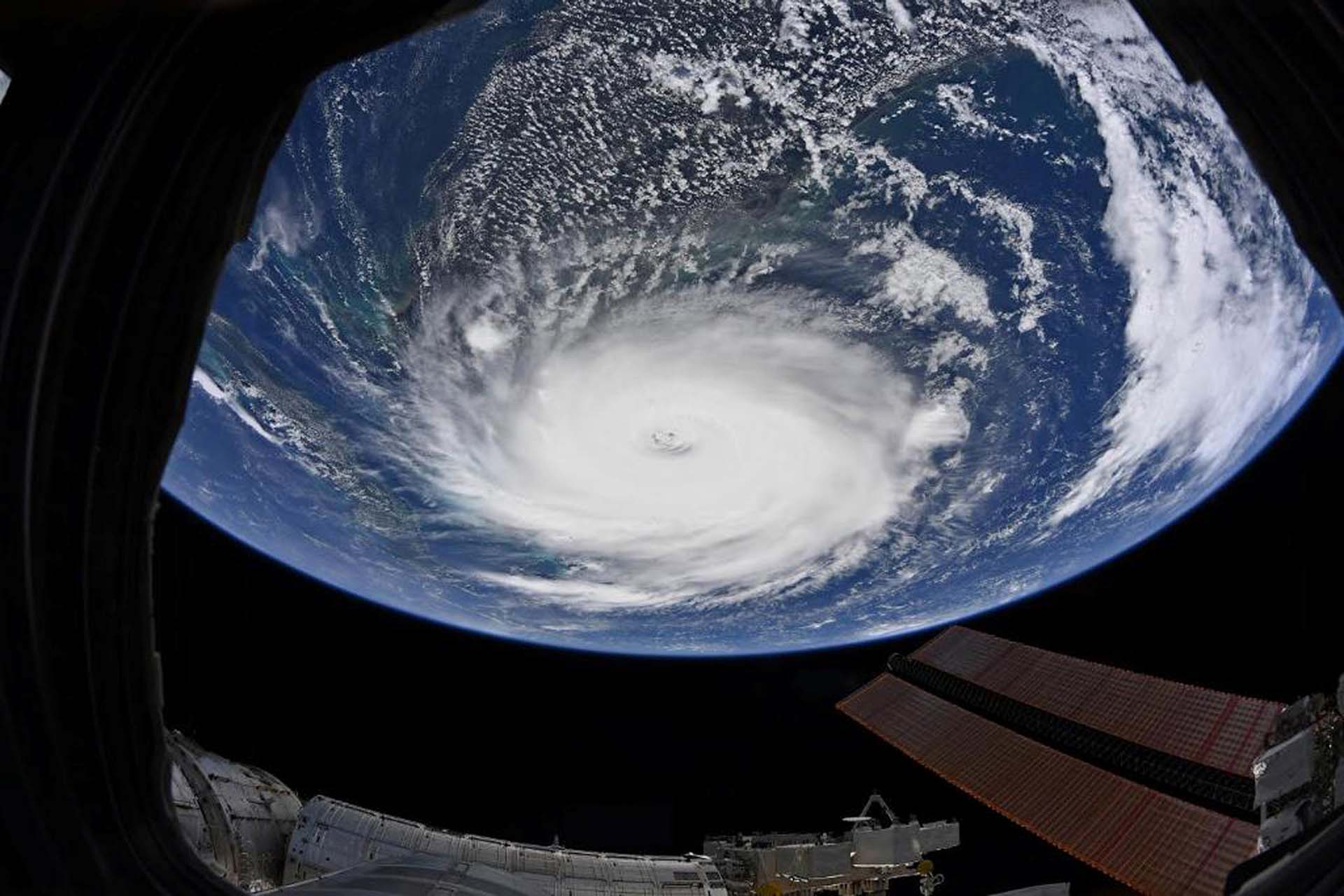 Hurricane Dorian is shown from the International Space Station more than 200 miles above the earth as it churns in the north-western Caribbean near the United States mainland in this photo taken September 2, 2019. Picture taken September 2, 2019. Christina Koch/NASA/Handout via REUTERS  ATTENTION EDITORS - THIS IMAGE WAS PROVIDED BY A THIRD PARTY
