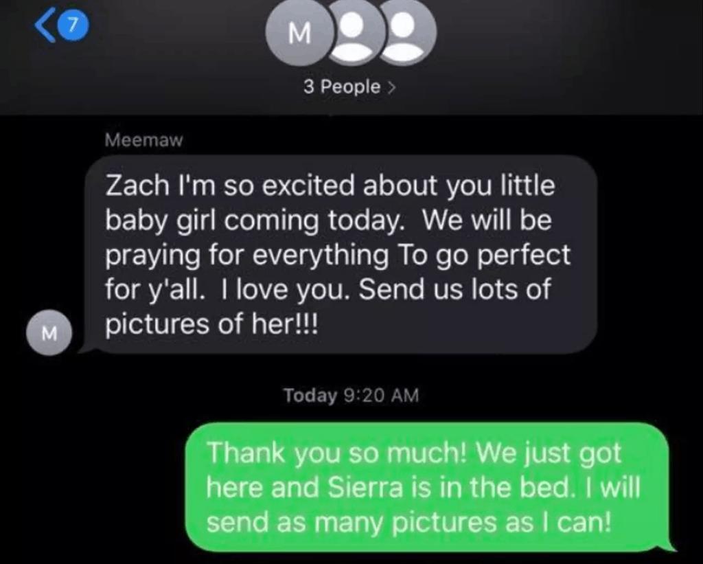 Lo agregaron accidentalmente a un grupo familiar de WhatsApp en el que estaban relatando el nacimiento de un bebé