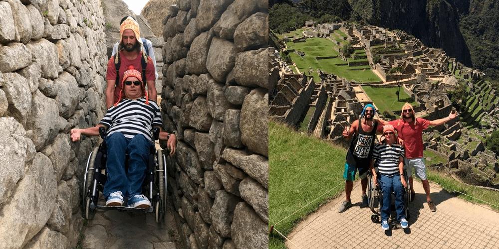 Argentino cargó a su amigo con discapacidad durante seis horas para que pudiera conocer Machu Picchu