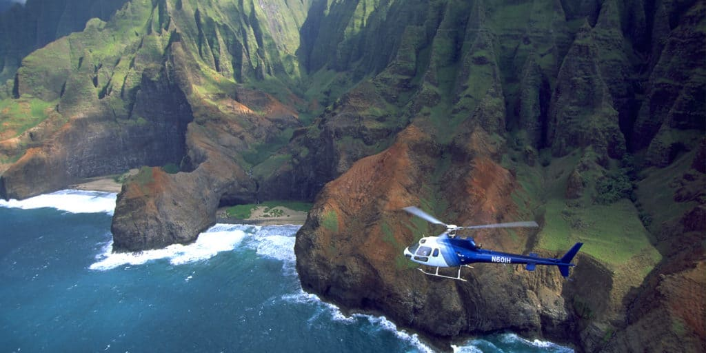 imagen Alamy AA6007 Hawaii helicopter tour