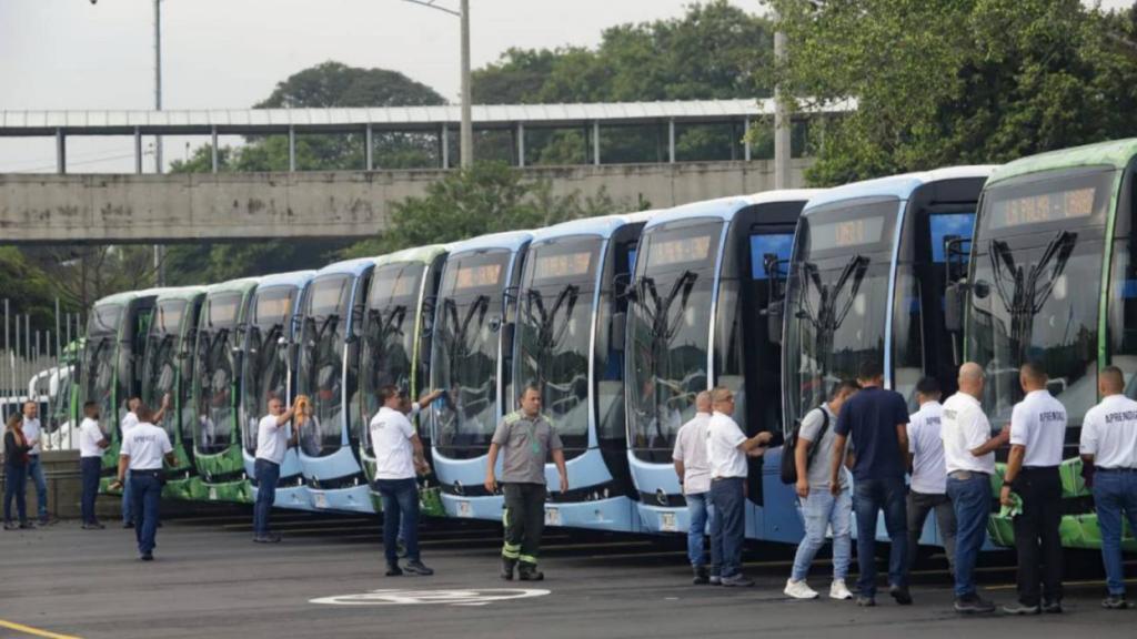 Medellín estrena nueva línea de buses 100% eléctricos con espacios exclusivos para mascotas