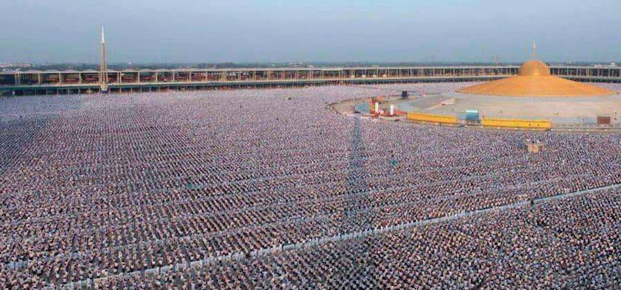 Imagen 1 Million Children Meditating For World Peace In Thailand
