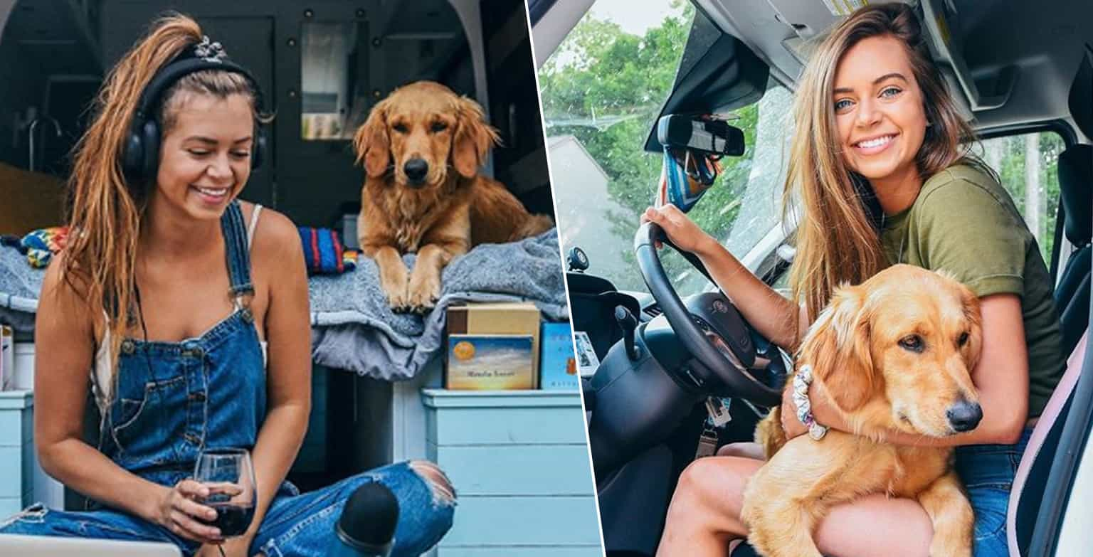dog_and_woman_in_van_