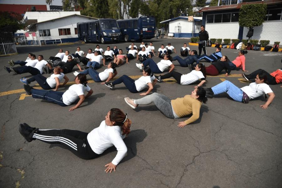 CDMX motiva a los oficiales de la Policía a hacer ejercicio pagándoles 1.000 pesos extras al mes
