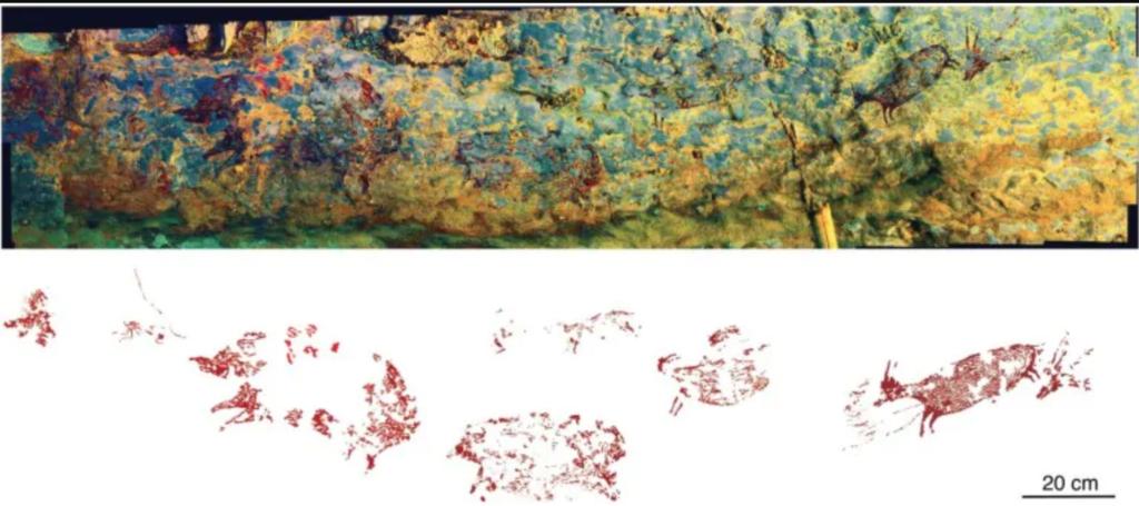 Indonesia: descubrieron una pintura en la pared de una cueva que tiene 44.000 años de antigüedad