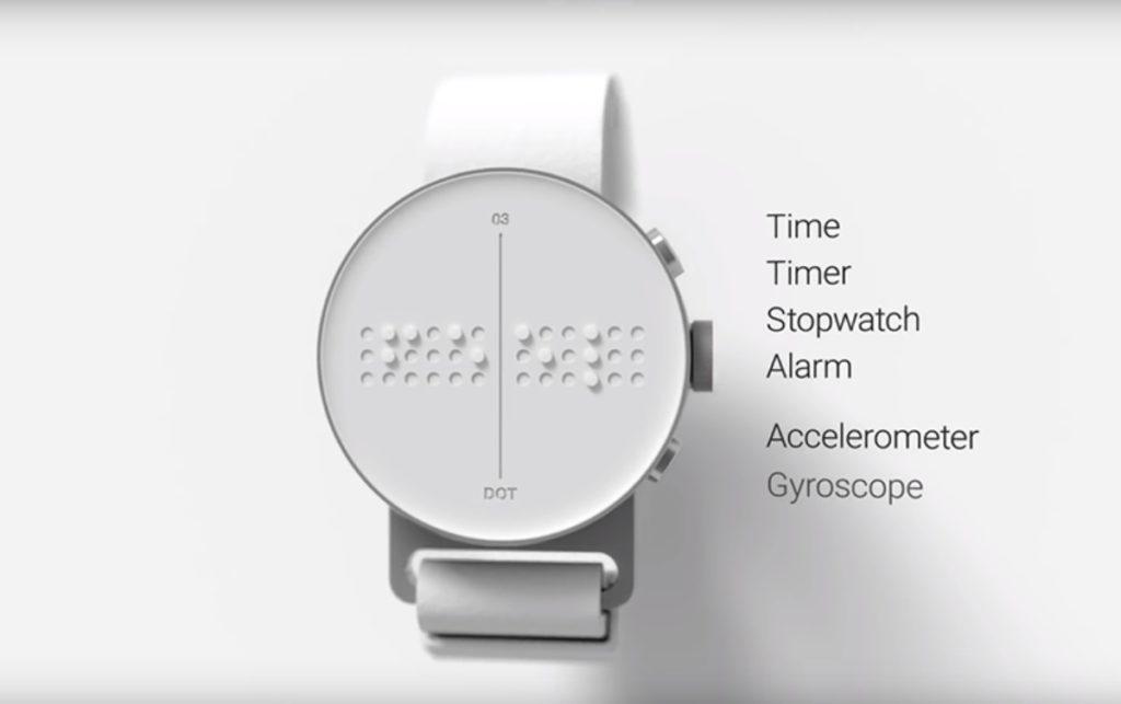 reloj inteligente braille dot smartwatch