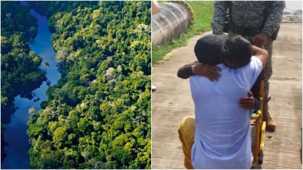 Una mujer y sus tres hijos se perdieron en el Amazonas y sobrevivieron un mes comiendo frutos silvestres