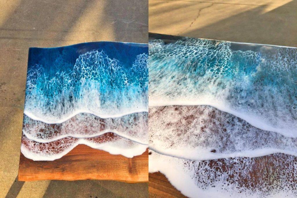 imagen ocean waves resin coffee table 268