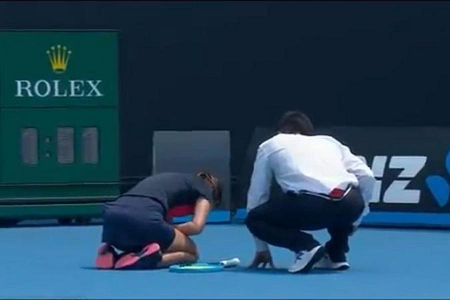 El humo de los incendios provocó un ataque de tos en una de las jugadoras del Abierto de Australia: debió abandonar la clasificación de la fase previa