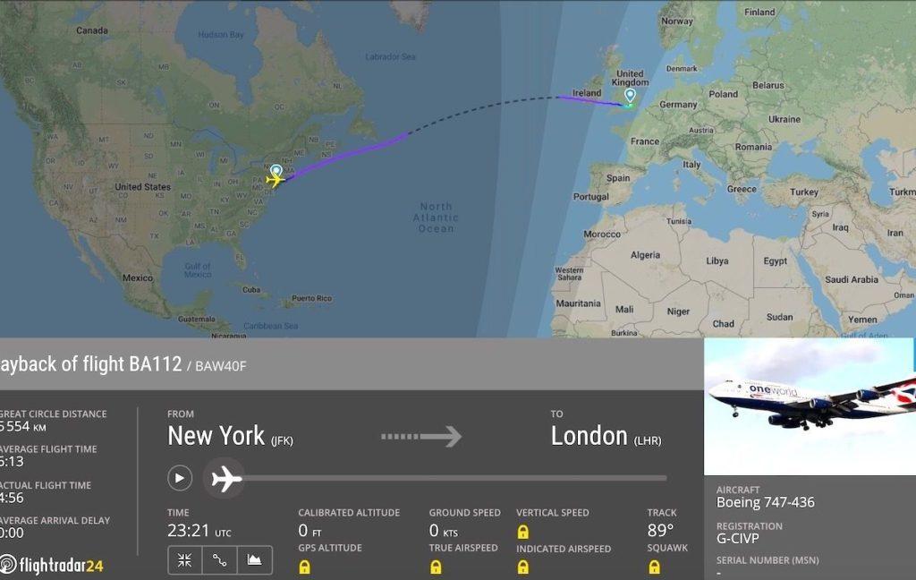imagen British Airways fastest flight across the atlantic 1200x759 1