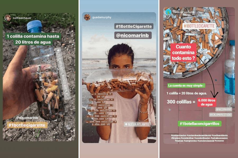 Conoce #1bottlecigarette: el nuevo challenge que te 'premia' por ayudar a cuidar y limpiar las playas