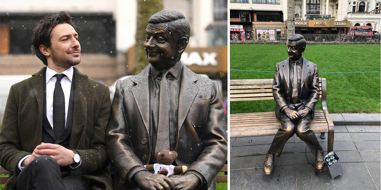 Mr Bean estatua londres