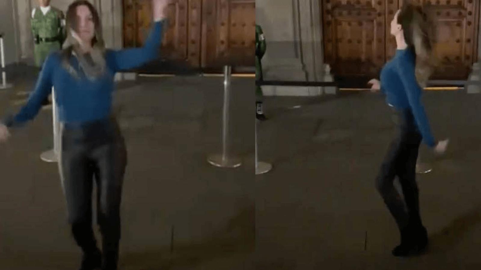 Una mexicana se filmó bailando Tusa en la sede de gobierno CDMX
