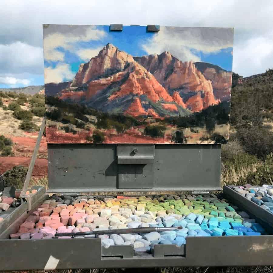 imagen Este artista crea asombrosos lienzos al aire libre que parecen fusionarse con los paisajes circundantes 7