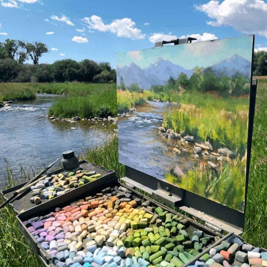 imagen Este artista crea asombrosos lienzos al aire libre que parecen fusionarse con los paisajes circundantes 5