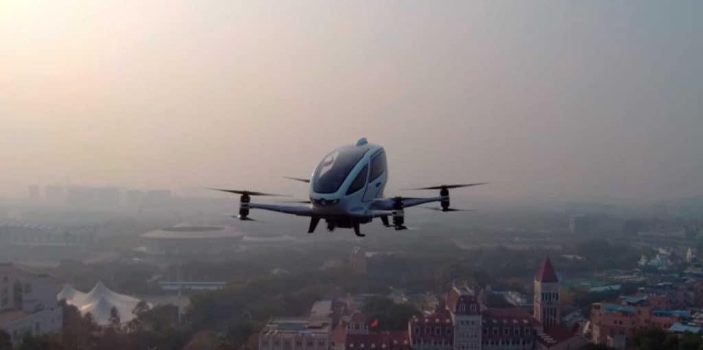 EHang probará sus drones de pasajeros en Noruega y España