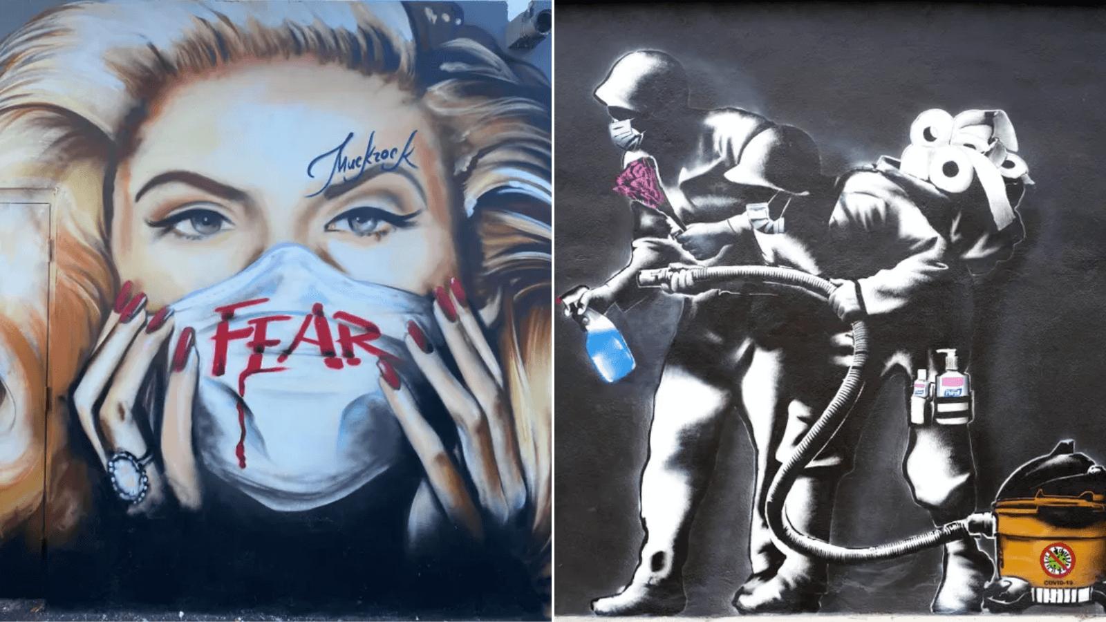 El arte callejero en tiempos de COVID-19 los artistas resisten con graffitis e ilustraciones alusivas (e irónicas) a la pandemia 2