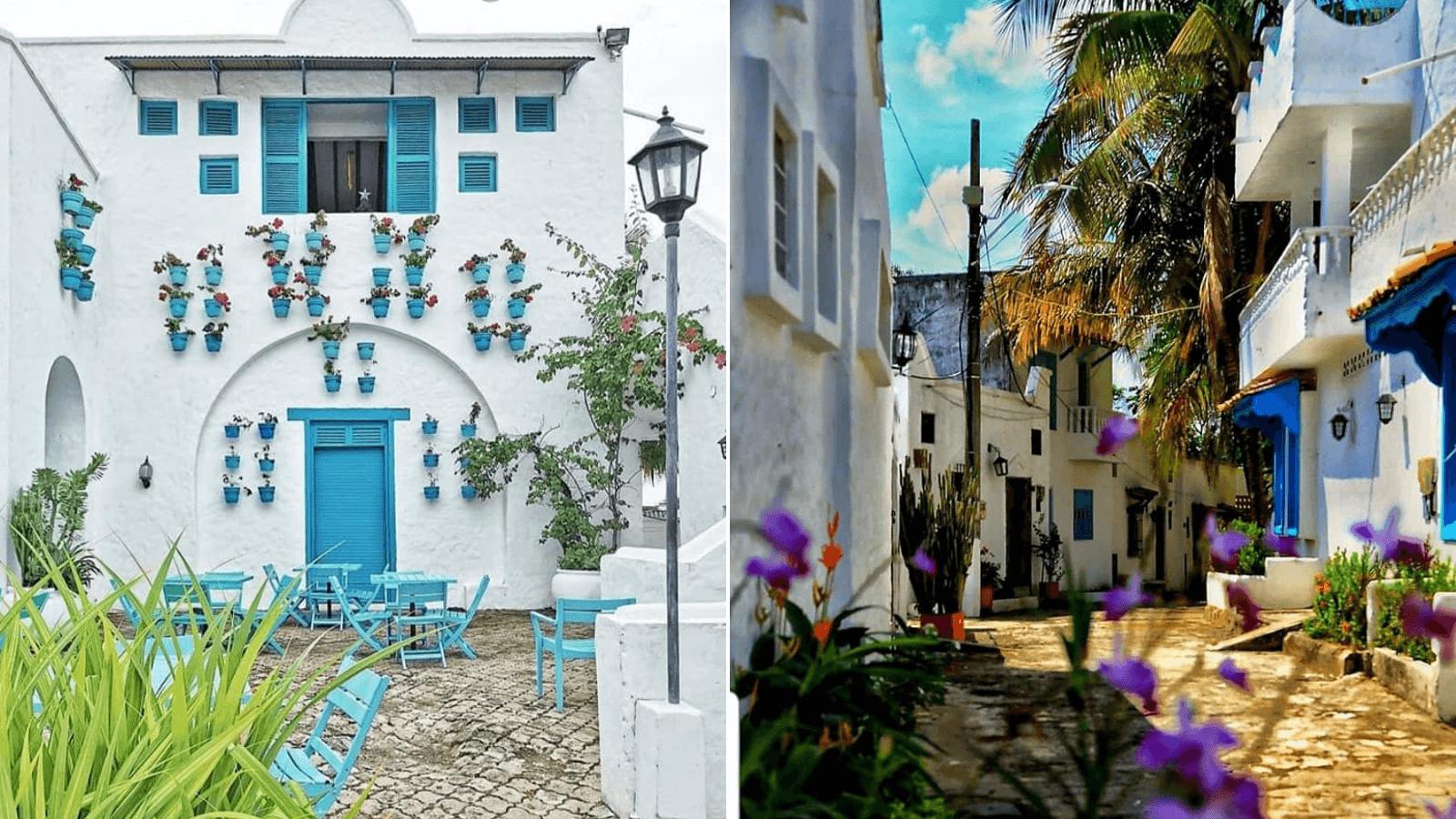 Esta aldea parece un poblado en el Mediterráneo pero no... así es como luce el 'Santorini colombiano' 1