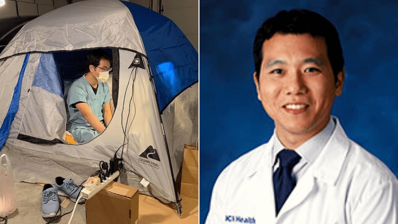 California Este médico atiende enfermos con Covid-19 y se ha mudado al garage de su casa para evitar contagiar a su familia 1