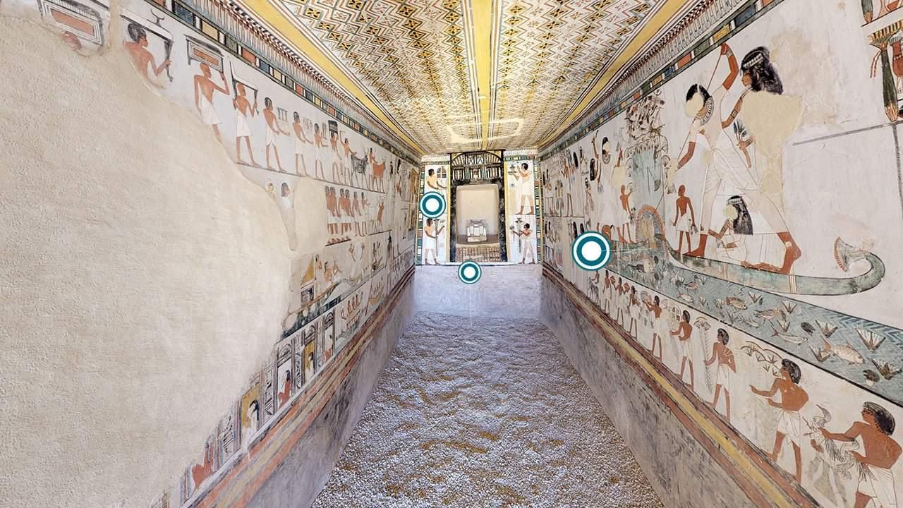 Egipto abre sus tumbas para que viajeros curiosos conozcan a través de recorridos virtuales