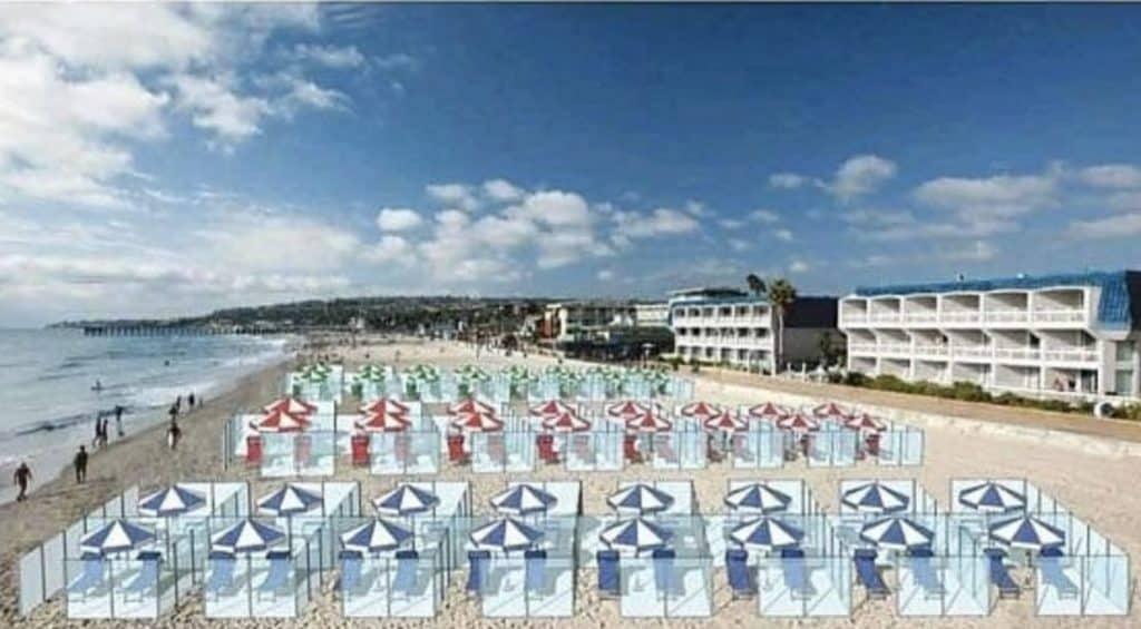 imagen Italia propone cub%C3%ADculos individuales para disfrutar de las playas sin riesgo de contagio