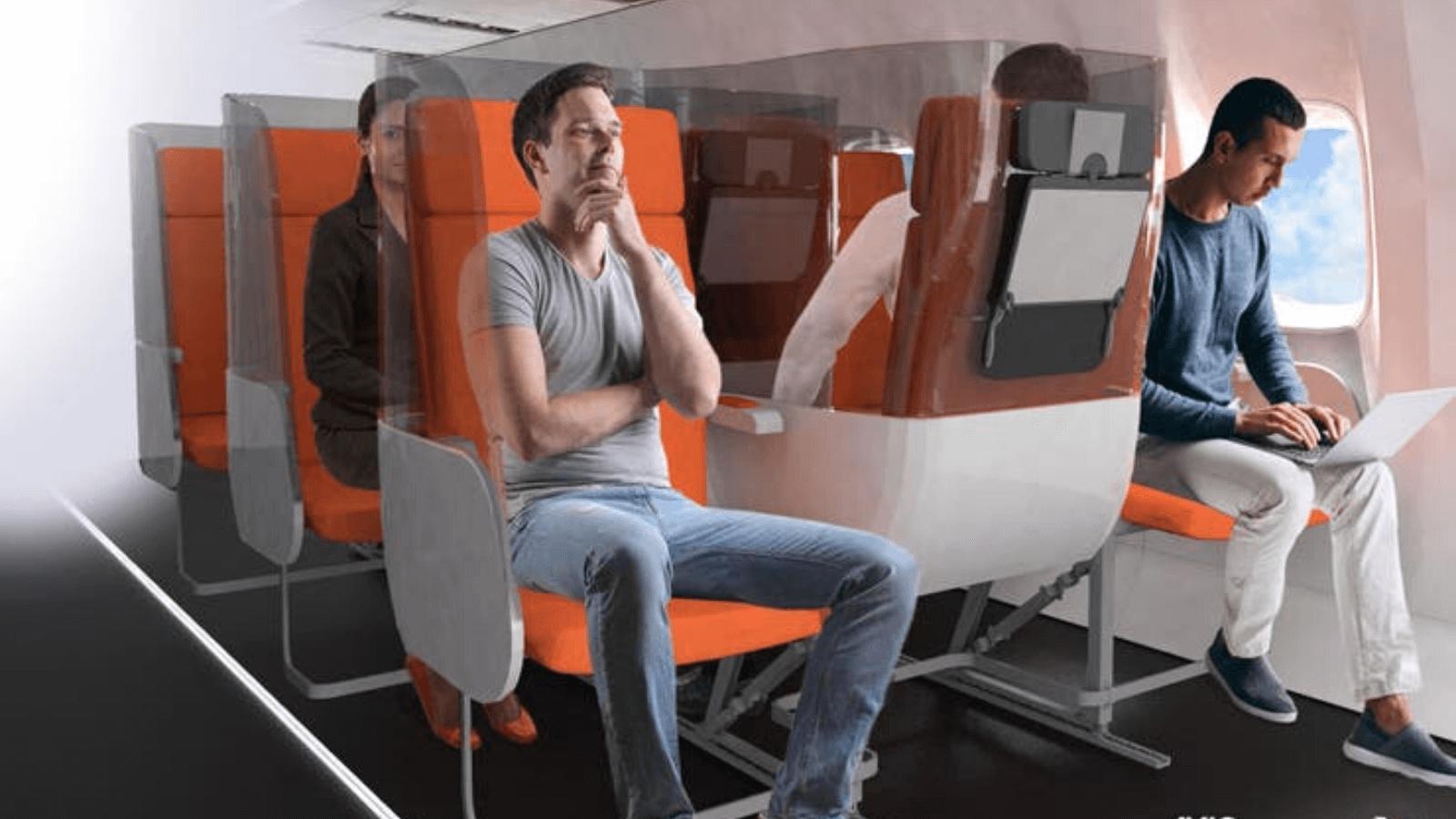 Turismo post Covid-19 Proponen el uso de mamparas en los asientos de aviones para evitar posibles contagios 53