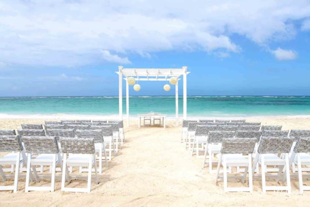 casamiento beach playa palladium hotel