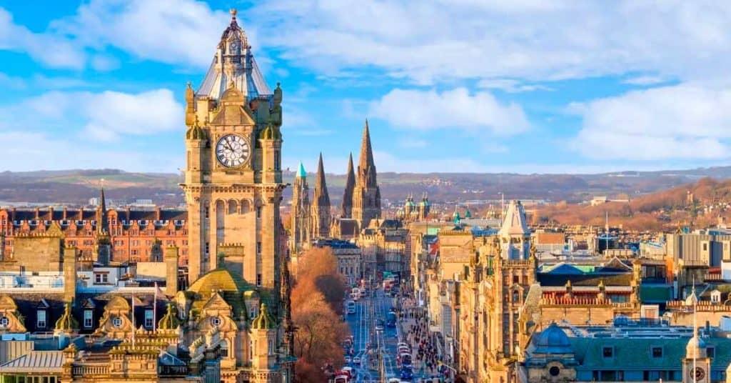 recorrer Reino Unido en tren reino unido edimburgo