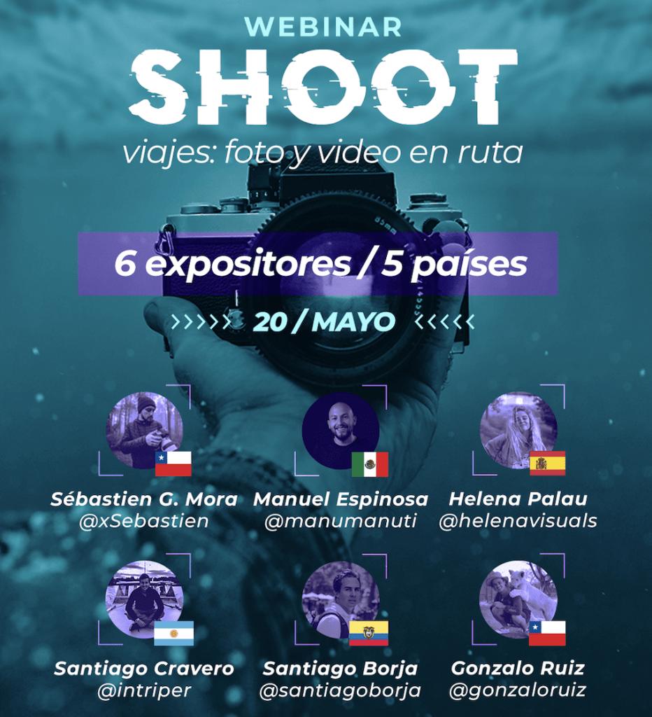 Shoot: un webinar que reúne 6 creadores audiovisuales de viaje, de 5 países distintos