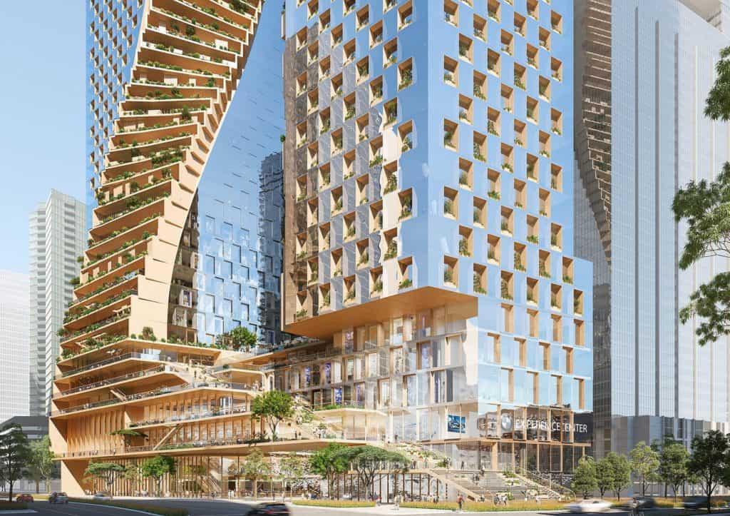 Construirán el rascacielos más alto de Australia: 'The Green Spine' será 100% sustentable y estará listo para 2026