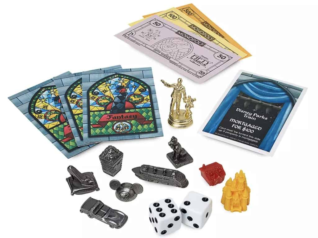 imagen Disney Parks Theme Park Edition Monopoly Game Pieces