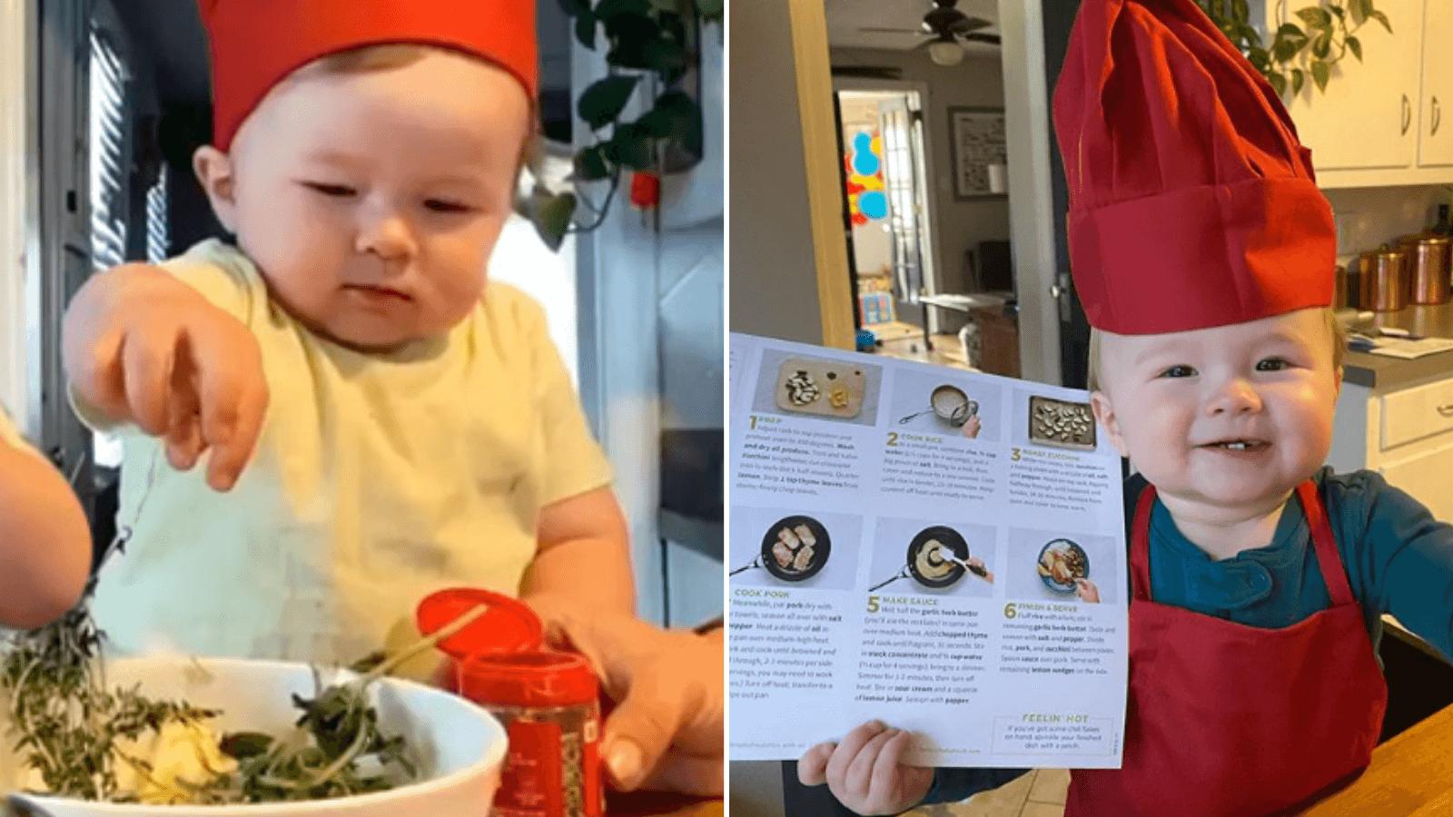Este tierno bebé chef de un año cocina más que tú en la cuarentena y es furor en las redes sociales 3