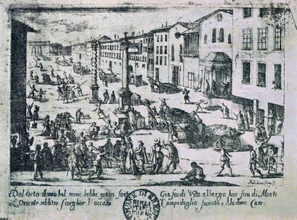 imagen Melchiorre Gherardini Piazza di S. Babila durante la peste del 1630