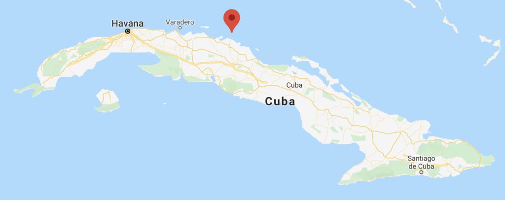 Cayos De Cuba: Mapa Del Cayo Iguana