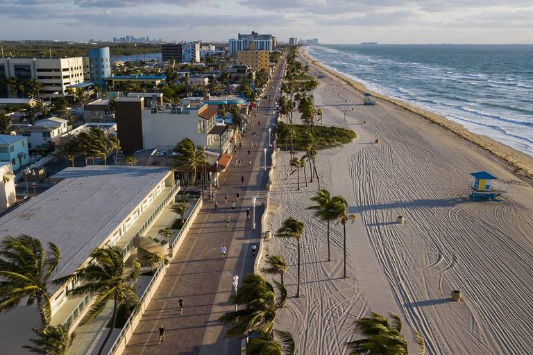 Suspendieron la reapertura de playas en Miami debido a los incidentes que se registran en Estados Unidos