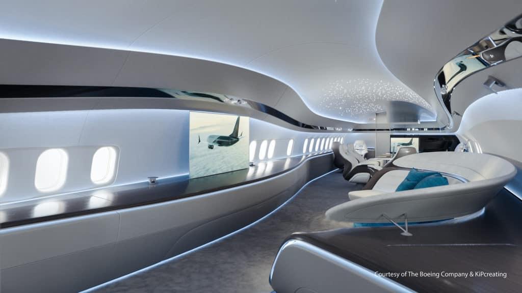 Una empresa argentina diseñó un lujoso interior de jet privado para los Boeing 737 Max y las imágenes son espectaculares