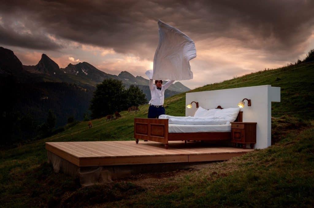 imagen Pasar la noche en un hotel sin techo ni paredes el nuevo concepto de hoteles que abrir%C3%A1 en Suiza