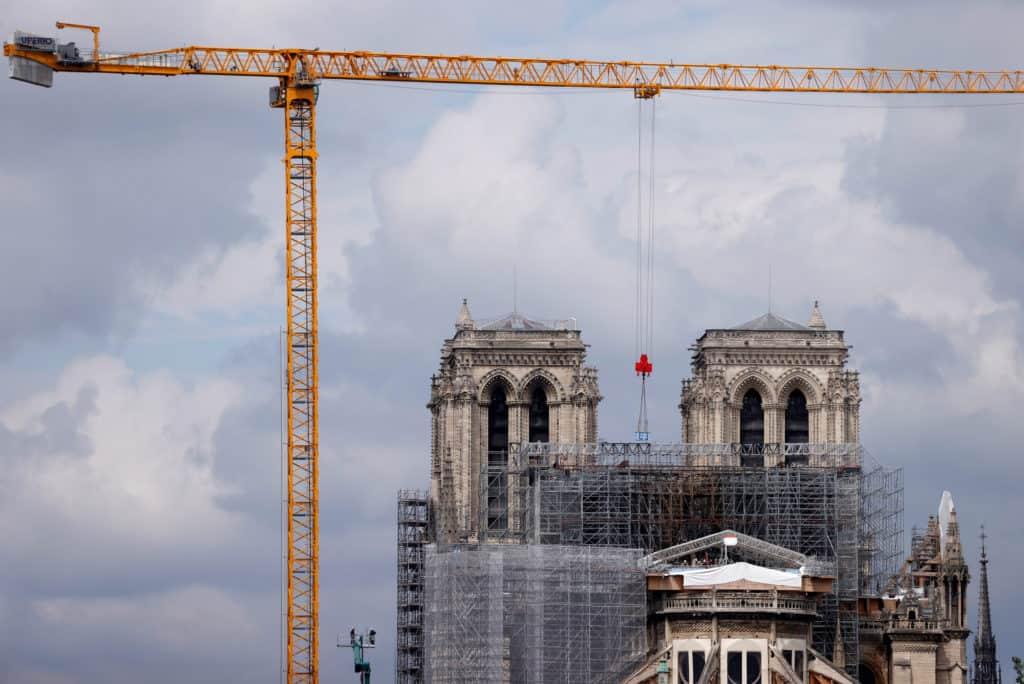 [FOTOS] Así se vivió la retirada del andamio, un día clave en la etapa de restauración de Notre Dame