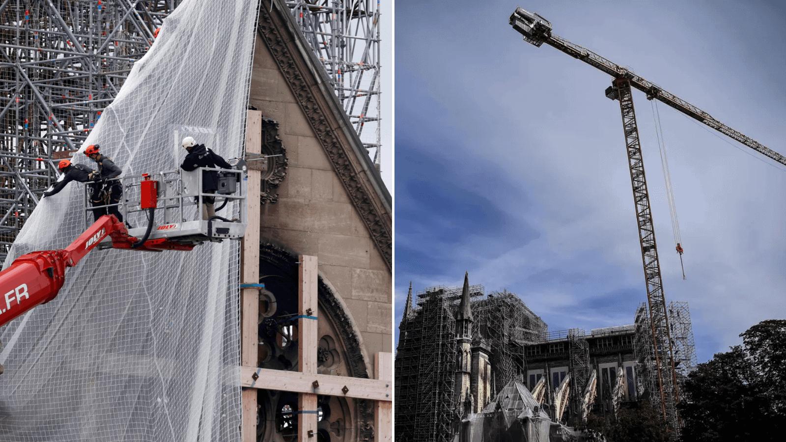 [FOTOS] Así se vivió la retirada del andamio, un día clave en la etapa de restauración de Notre Dame 3