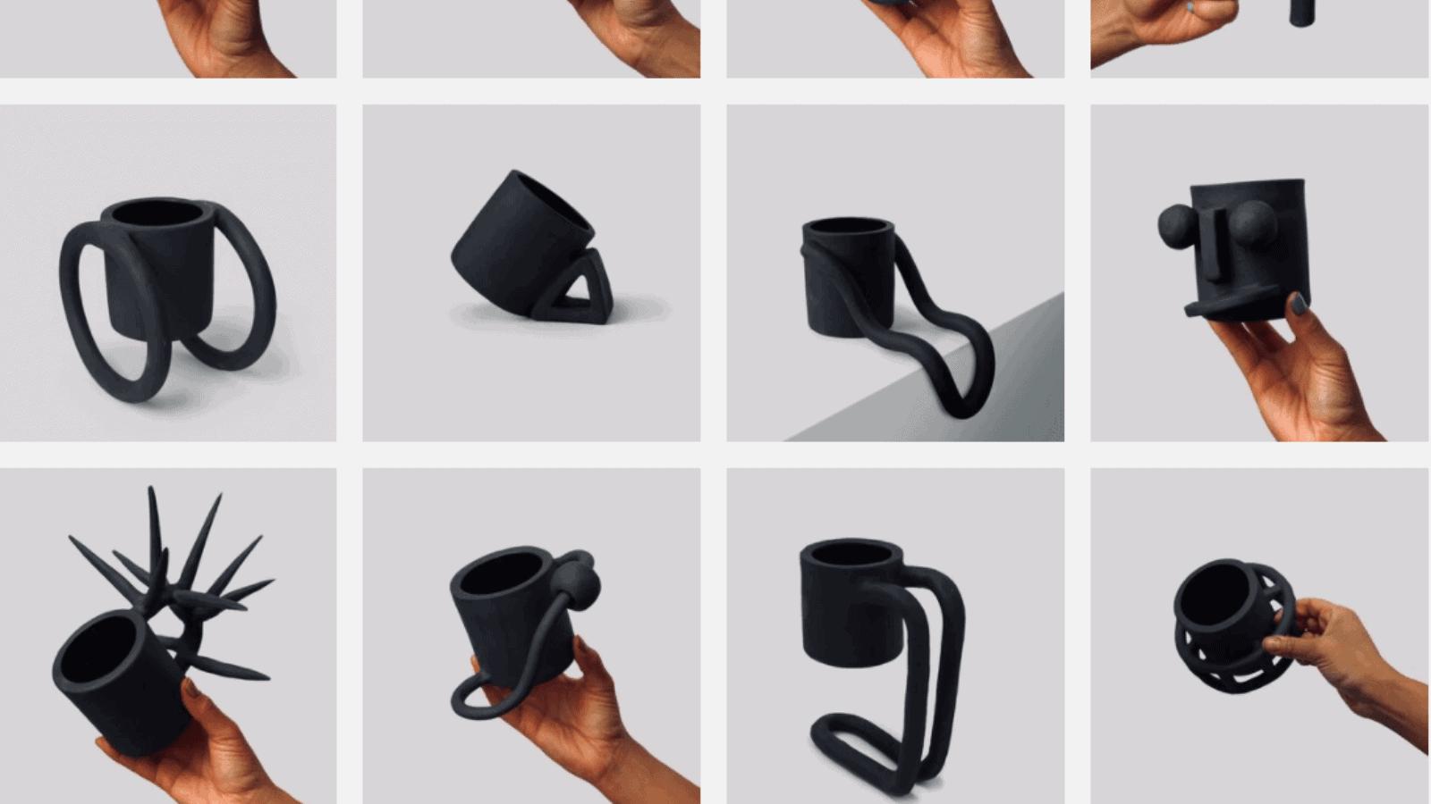 Esta artista apasionada por la cerámica creó 100 asas diferentes para una misma taza y enseña múltiples formas de diseñar un objeto 3