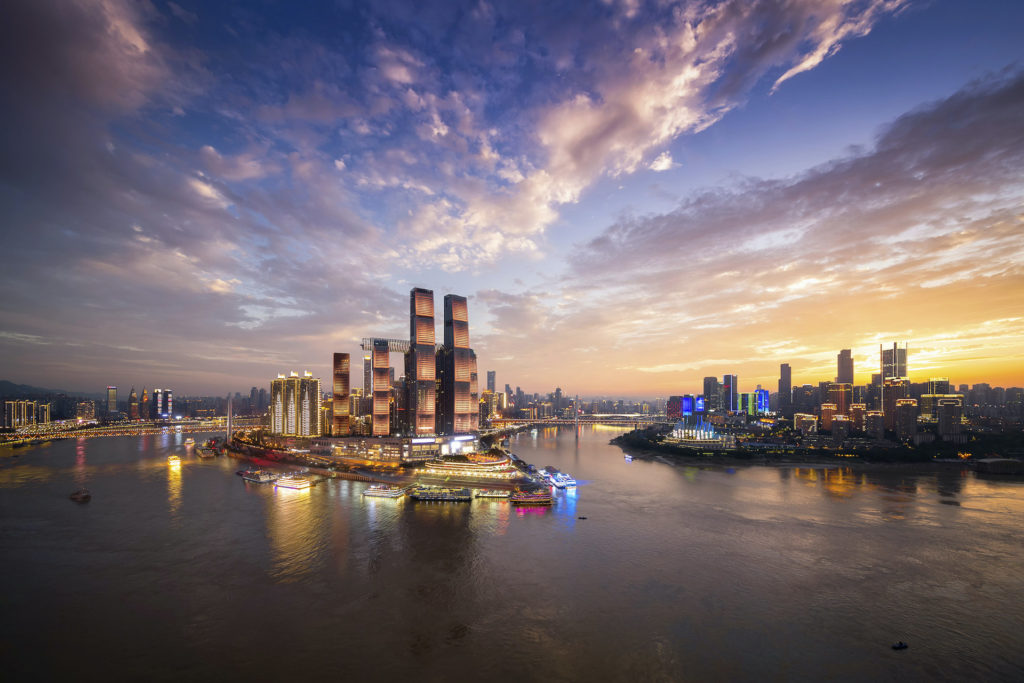 Rascacielos Horizontal En China