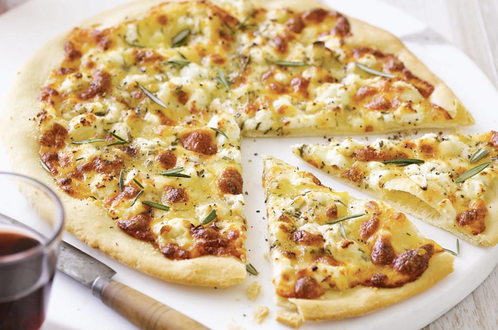 10 estilos de pizza: pizza bianca